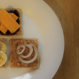 Three spins on cheese & crackers